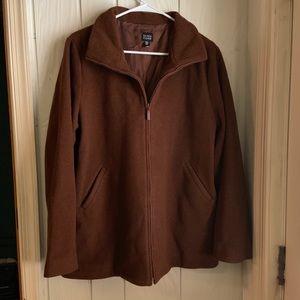 Eileen Fisher | Rust Brown Vintage Wool Coat